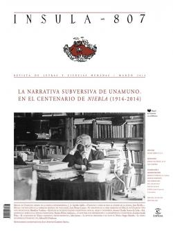 La narrativa subversiva de Unamuno. En el centenario de Niebla ( 1914-2014)